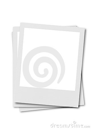 Film polaroidu białe tło