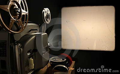 Film Projector With Blank Frame Royalty Free Stock Photo - Image: 20677435