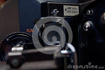 Film projector close-up
