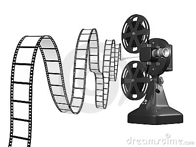 Film Projector With Film Royalty Free Stock Photo - Image: 4631555