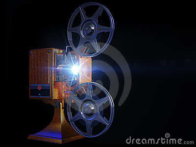Film projector show move