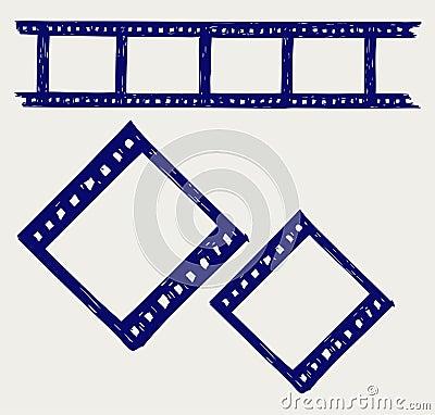 Film reel. Doodle style