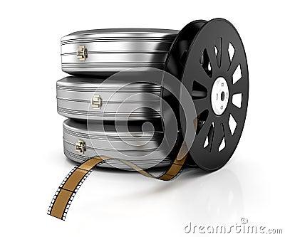 Film reel and film cases