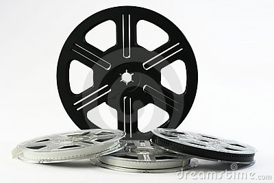 Film reels with films 8