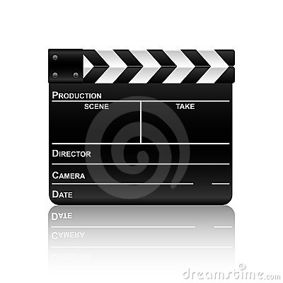 Film slate with reflection 2