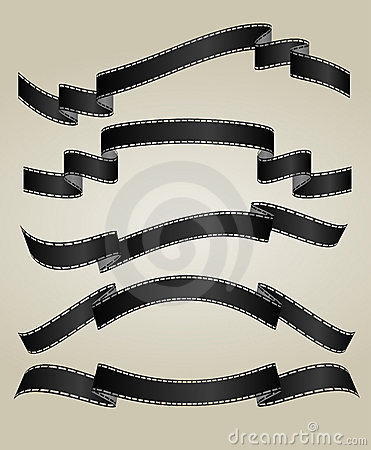 Free Film Strip Banners Stock Images - 9458494