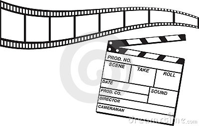 Film Strip and Clapboard