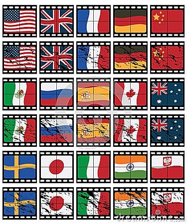 Film strip flags