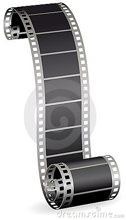 Free Film Strip For Photo Or Video On White Background Royalty Free Stock Photo - 20534055