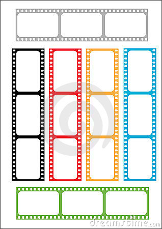Film strip multicoloured