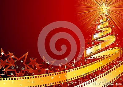 Film strip pine tree