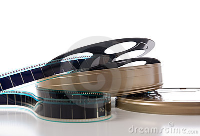 Film Strip, Reel and Can