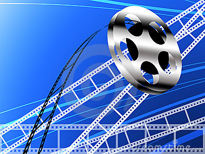 Film strip and roll, Cinema concept