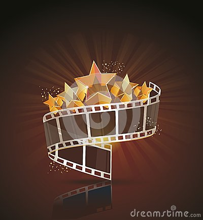 Free Film Strip Roll With Gold Stars. Stock Photo - 37378890