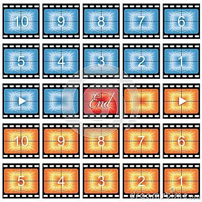 Film strip stills