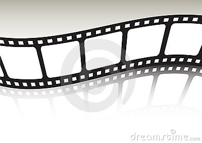 Film strip waved