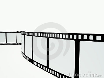 Film strip on the white background