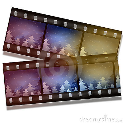 Free Film Strip With Snow And Trees Stock Image - 6863181