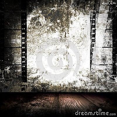Film Strips Grunge Room
