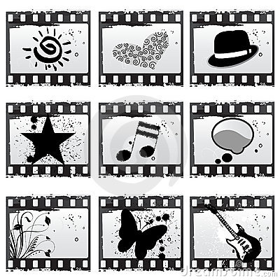 Film With Symbols Stock Images - Image: 14921114