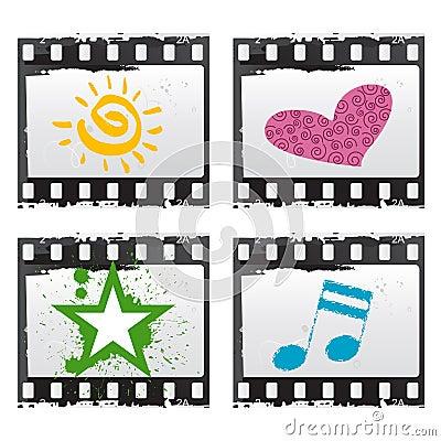 Film with symbols