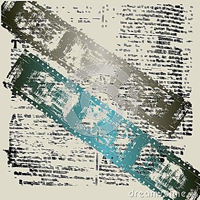 Film Textual Grunge Background