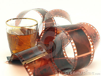 Film and wineglass