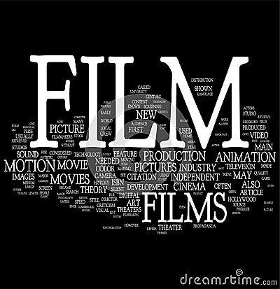 Film Word Cloud Stock Photo Image 10977210