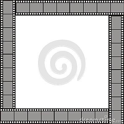 Der rahmen gezeichnet in form von stücken eines filmes für fotos
