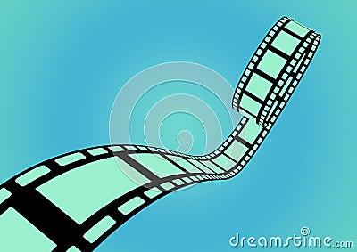 Filmstrip blue