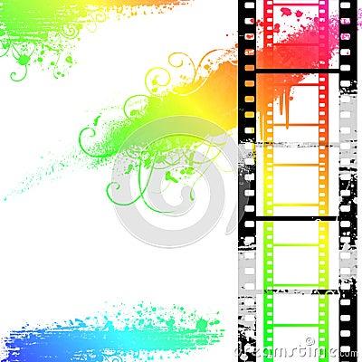 Filmstrip grunge