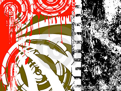 Filmstrip Grunge Background