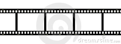 Filmstrip over white background