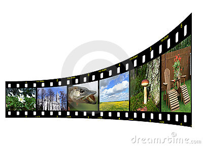 Filmstrip with photos