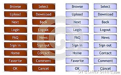 Filmstrip web buttons - cdr format