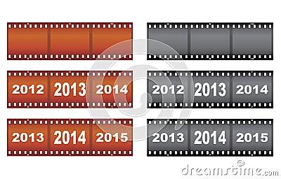 Filmstrips dell nuovo anno