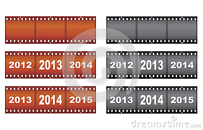 Filmstrips do ano novo