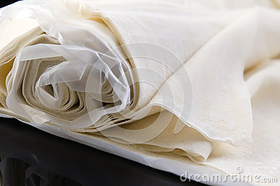 Filo. Ready made dough leaves, fillo, phyllo