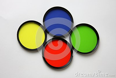 Filters, Red, Yellow, Blue and Green