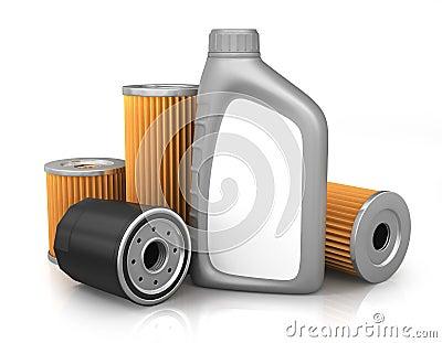 filtres huile et moteur de voiture illustration stock. Black Bedroom Furniture Sets. Home Design Ideas