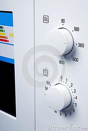 Botões do forno microondas
