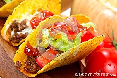 Fim mexicano do burrito acima