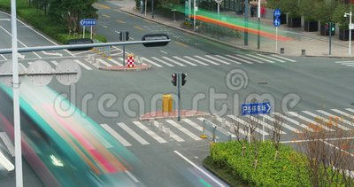 Fin de route vers le haut de laps de temps Chine, Shenzhen banque de vidéos
