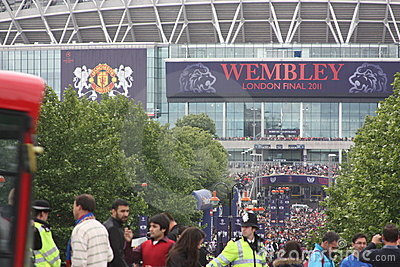 Final of Champions League in Wembley, London Editorial Stock Photo