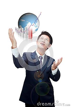 Final destination of Asian business man