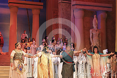 A final of the opera Aida Editorial Image