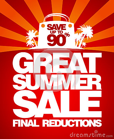 Free Final Summer Sale Design Template. Royalty Free Stock Images - 26672479