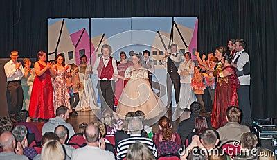 The finale of Cinderella Editorial Image