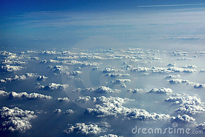 Perfect clouds from an airplane
