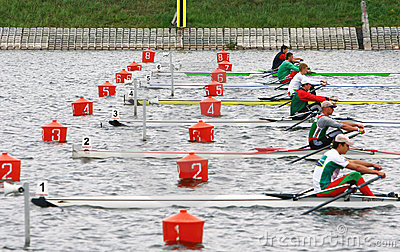 The finals in rowing. Editorial Photo